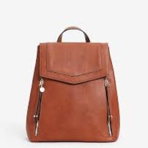Double Zip Faux Leather Backpack/NWOT